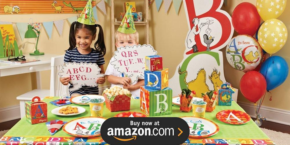 Abc Party Favors: Dr Seuss ABC Birthday Supplies