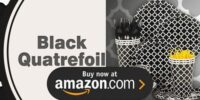 Black Quatrefoil Birthday Supplies