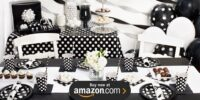 Black and White Dots Birthday Supplies