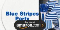 Blue Stripes Birthday Supplies