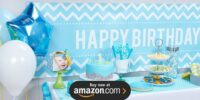 Blue and White Dot Design Your Own Birthday Supplies