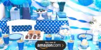 Blue and White Dots Birthday Supplies