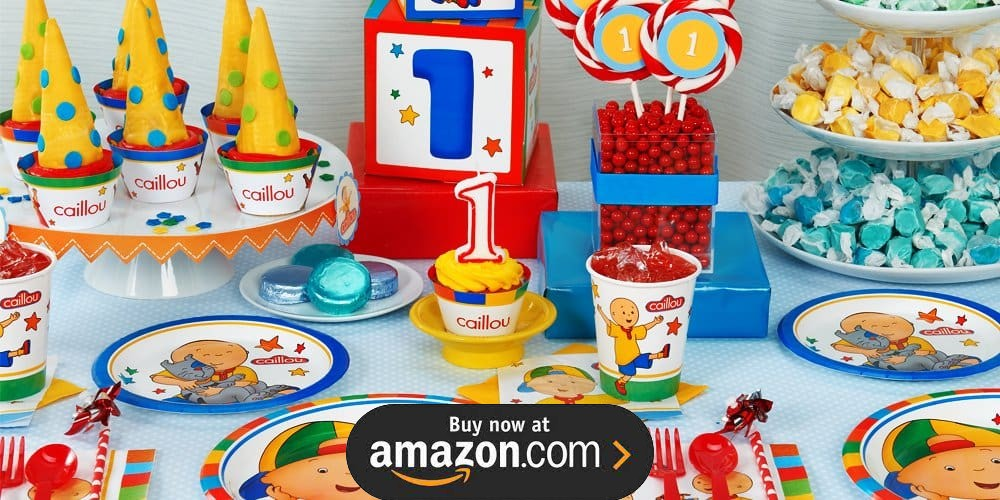 Caillou 1st Birthday Supplies - THE Birthday Depot