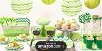 Chevron Green Birthday Supplies
