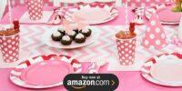 Chevron Pink Birthday Supplies