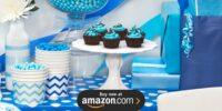 Chevron True Blue Birthday Supplies