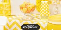 Chevron Yellow Birthday Supplies