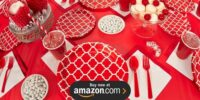 Classic Red Quatrefoil Birthday Supplies