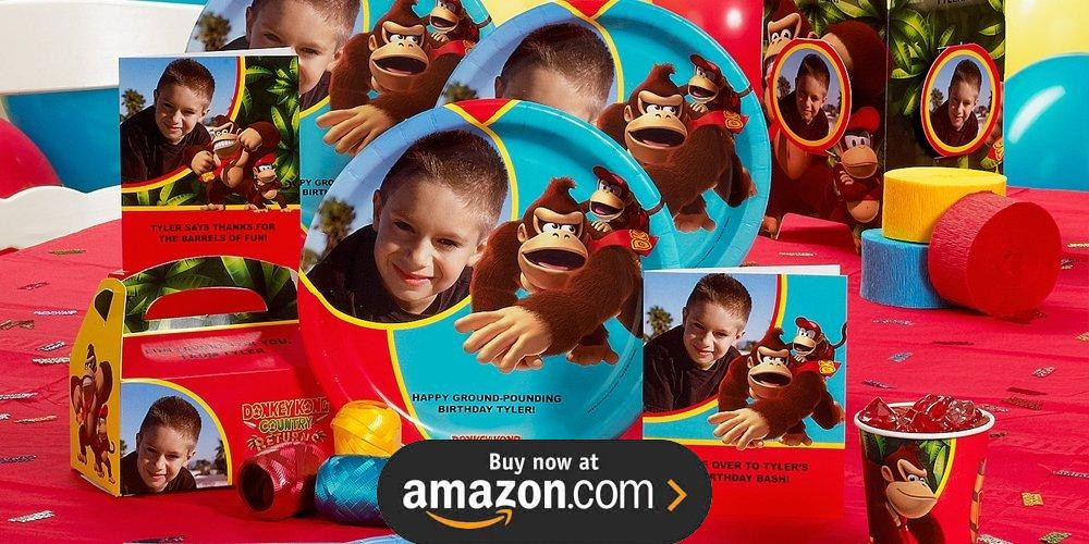 Donkey Kong Personalized Birthday Supplies
