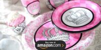 Elegant Princess Damask 1st Birthday Supplies