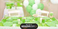Fresh Lime Quatrefoil Birthday Supplies