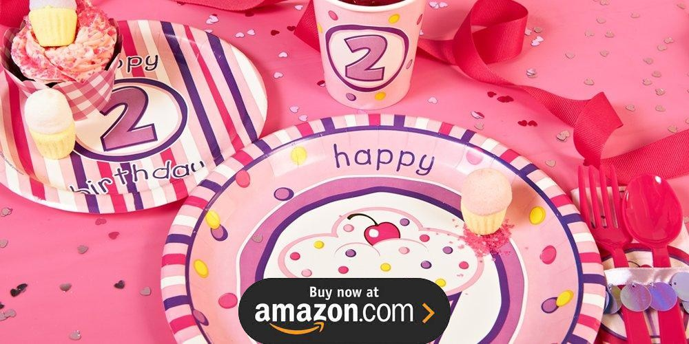 Girls Lil Cupcake 2nd Birthday Supplies