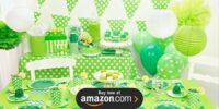 Green and White Dots Birthday Supplies