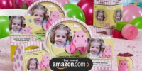 Hippo Pink Personalized Birthday Supplies