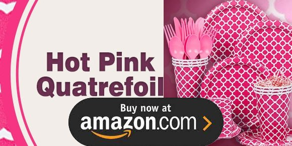 Hot Pink Quatrefoil Birthday Supplies