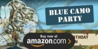 Light Blue Camo Birthday Supplies