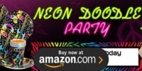 Neon Doodle Birthday Supplies