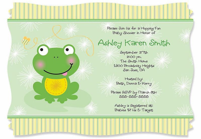 Sweet Stripes Girl Party Invitations
