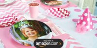 Pink and White Chevron Design Your Own Birthday Supplies