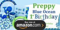 Preppy Boy Ocean 1st Birthday Supplies