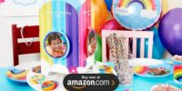 Rainbow Wishes Personalized Birthday Supplies