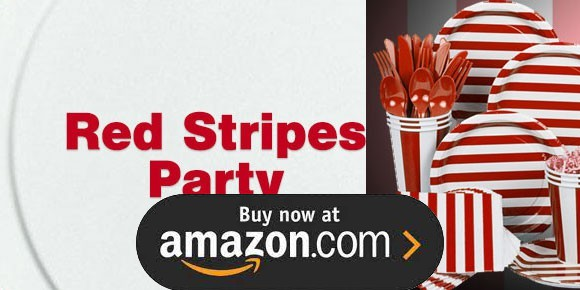 Red Stripes Birthday Supplies