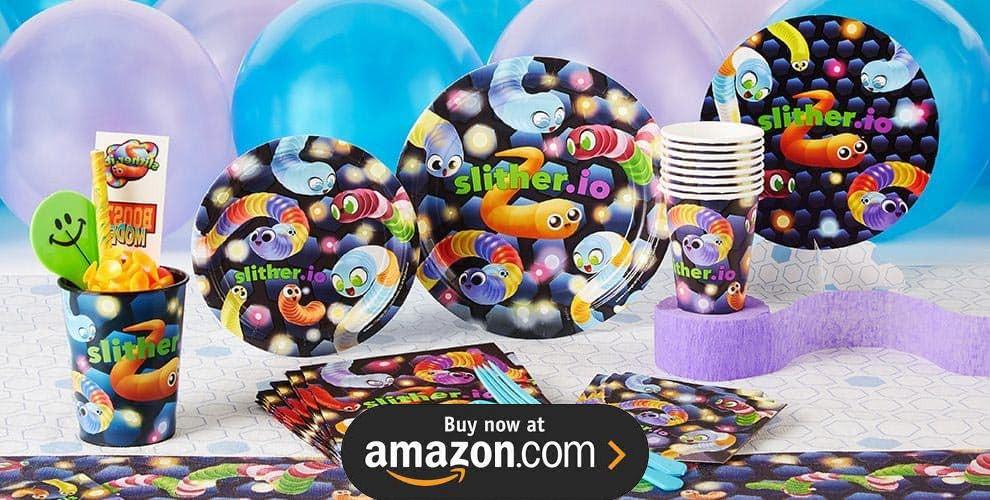 Slither.io Birthday Supplies