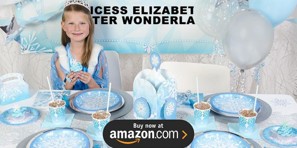 Snowflake Winter Wonderland Birthday Supplies