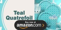 Teal Quatrefoil Birthday Supplies
