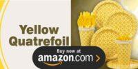 Yellow Quatrefoil Birthday Supplies